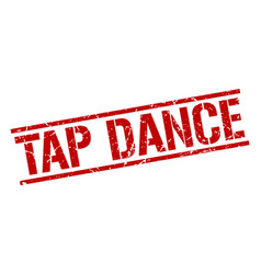 Tap dance stamp vector