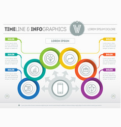 Template of a infochart diagram or presentation vector