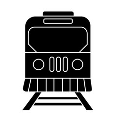 train city icon black sign vector image
