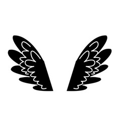 Wings feathers angel bird freedom pictogram vector