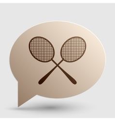 Tennis racquets sign brown gradient icon on vector