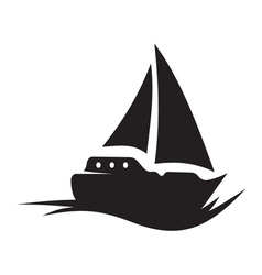 Sailing boat icon vector