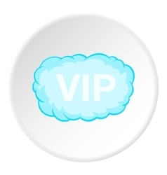 Sign vip in cloud icon cartoon style vector