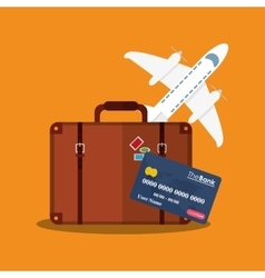 Baggage of travel and tourism concept vector