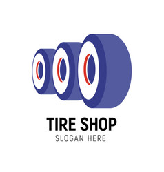 tire shop logo template car vector image