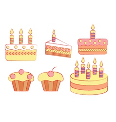 Holiday cakes vector