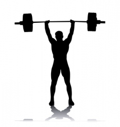 silhouette of the weightlifter vector image
