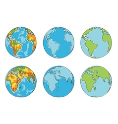 Globe with different colors vector