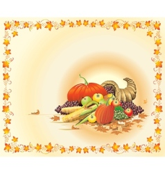 Hot and bright thanksgiving postcard vector