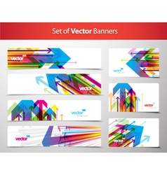 Set of gift cards and banners with arrows vector