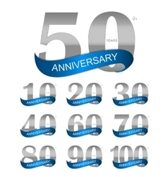 Template logo set anniversary vector