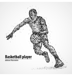 abstract basketball athlete vector image vector image