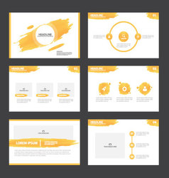 Abstract orange presentation templates infographic vector