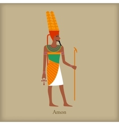 Amon God of the wind icon flat style vector image