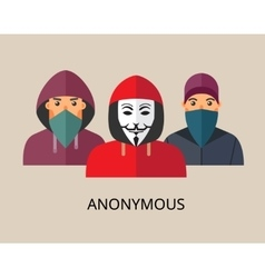 Anonymous hacker team vector