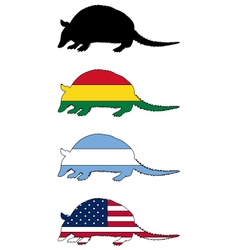 Armadillo flags vector