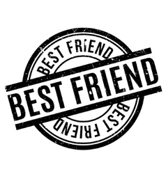Best friend rubber stamp vector