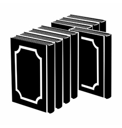 Book stack with frame on the cover icon vector