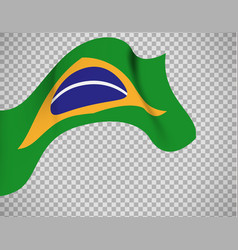 brazil flag on transparent background vector image vector image