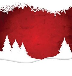 Christmas landscape on watercolour background vector