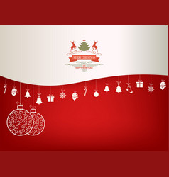 christmas red white background vector image vector image