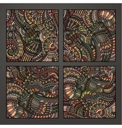 Decorative ornamental pattern set vector