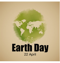earth day typography vector image vector image