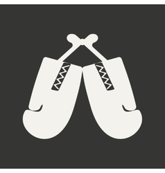 Flat in black and white mobile application boxing vector