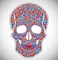 Floral skull vector