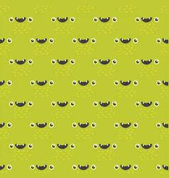 Funny cartoon monster seamless pattern alien vector