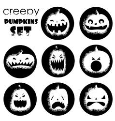 Grange pumpkin set vector image