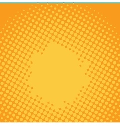 Halftone yellow pop art background vector