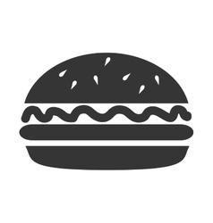 icon burger fast food islated vector image vector image