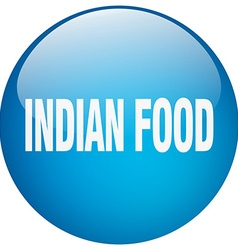 Indian food blue round gel isolated push button vector