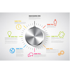 infographic report template with knob vector image vector image