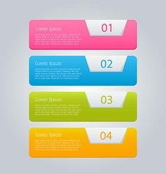 Infographics template for business education web vector image