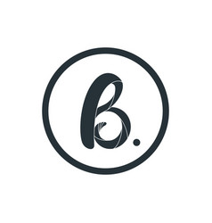 letter b logo icon design template elements vector image