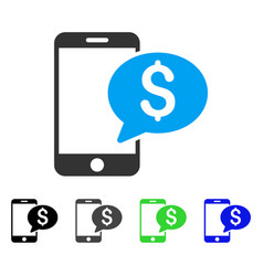 mobile money message flat icon vector image vector image