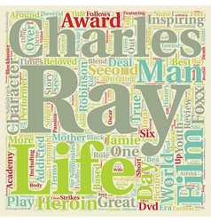 Ray DVD Review text background wordcloud concept vector image vector image