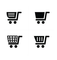 Shopping cart icons vector