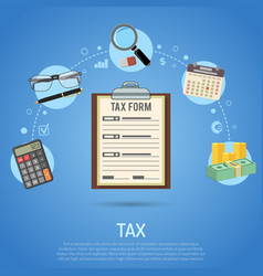 tax calculation payment accounting paperwork vector image