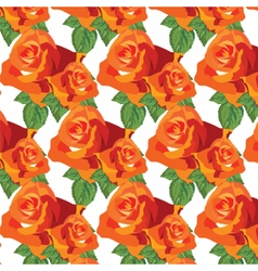 Watercolor Red roses pattern vector image vector image