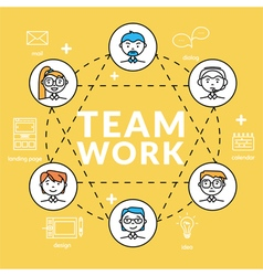 Teamwork concepts of team vector