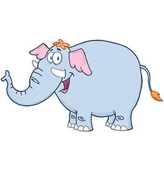 Elephant Cartoon Mascot Character vector image