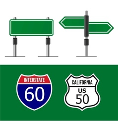 Road sign template vector