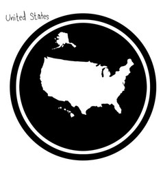 White map of the united states on vector