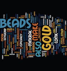 Gold beads text background word cloud concept vector