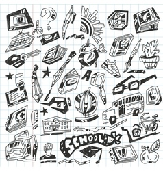 School - doodles vector