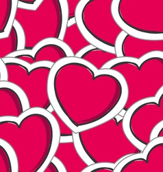 Valentines hearts seamless background vector