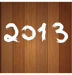 2013 year white on wood EPS8 vector image vector image